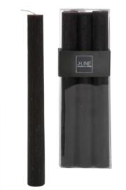Dinerkaarsen zwart 24 cm