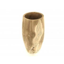 Houten vaas (12 x 38 cm)