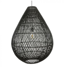 Rotan hanglamp Gota XL zwart