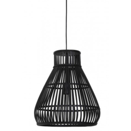 Rotan zwart hanglamp