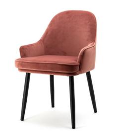Velvet stoel Eleonora roze