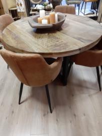 Eettafel mangohout vanaf 130 cm