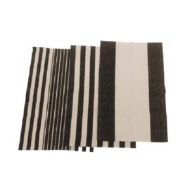 Katoen gestreept tapijt / Rechts
