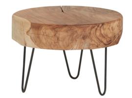 Maya salontafel met dik houten blad