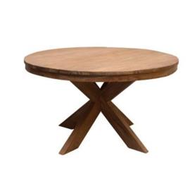 Ronde houten eettafel 'Desert'