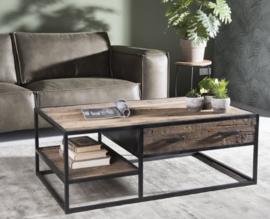 Salontafel rustiek hout 120 cm