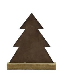 Kerstboom metaal - hout 29 cm
