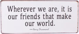 Friends make our world