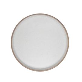 Klein bord 21,5 cm 'taber' wit / beige met spikkeling