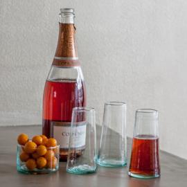 Gerecycleerde originele champagneglazen