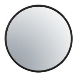 Zwart metalen spiegel 60x5 cm