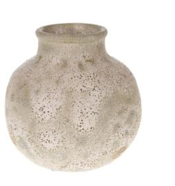 Terracotta vaas antiek wit