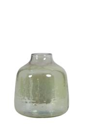 Steenslag vaas olijfgroen S