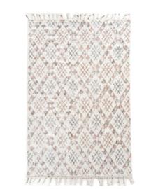 Vloerkleed  wit gekleurd met motief 200 x 300