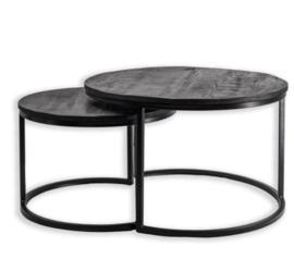 Zwarte salontafels set van 2