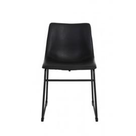 Zwarte stoel 'Bent'