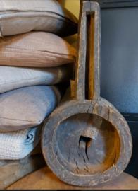 Rustieke oude houten lepel