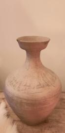 Antieke fles gebroken wit-taupe