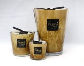 Geurkaars 'Victoria with love' zwart glas M