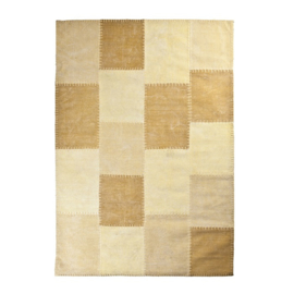 Tapijt patchwork yellow 160 x 230 cm