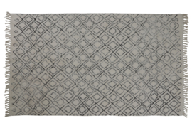 Vloerkleed zwart / wit 230 x 160 cm