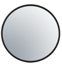 Zwart metalen spiegel 80x5 cm