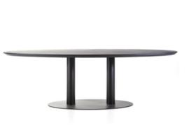 Olly black ovale eiken tafel vanaf 240 cm