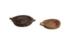 Rustieke houten schaal