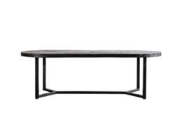 Denzel ovale zwarte tafel vanaf 200 cm