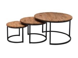 Set van 3 salontafels