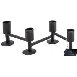 4-delige zwarte kandelaar