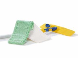 Jemako Vloerset met dweil groen laagpolig en wit