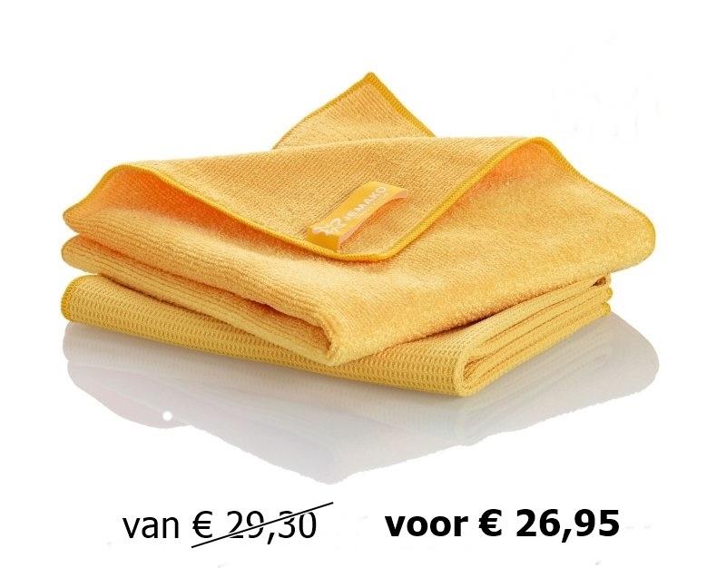 Jemako set Raamdoeken geel