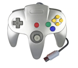 N64 3rd Party Controller - Zilver