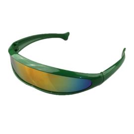 Snelle Planga Zonnebril - Zeer Vlotte Robocop 2045 Groen