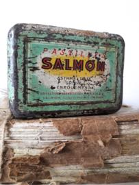 Oud blikje Salmon Pastilles