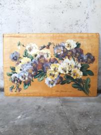 Antieke schildering op zijde