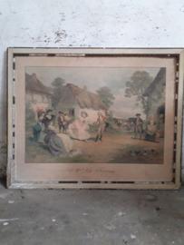 Lithografie A La Ferme 81x65cm