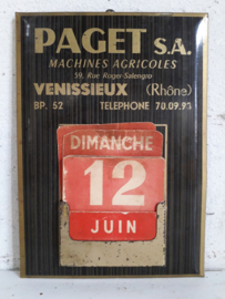 Oude franse reclame kalender