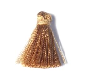 25 mm goudkleur stoffen kwastje 1 st.