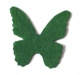 32 x 32 mm vilten vlinder groen 1 st.