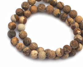 """Picture Jasper """"Frosted"""" 6 mm"""