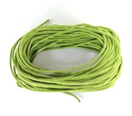 Sieradenkoord katoen groen (5 meter)