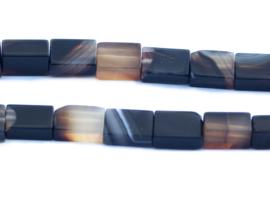Agaat 9 x 6 x 4 mm rechthoekige kralen