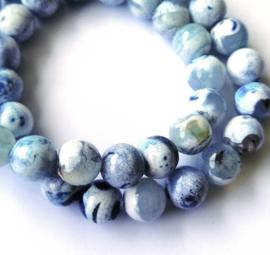 Agaat (baby) blauw -wit (8 mm)