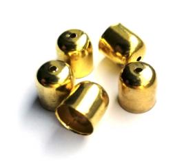 Eindkapjes goudkleur 10 x 10 mm (9 st.)