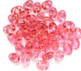 Preciosa Twin roze doorzichtig 01193  20 g.