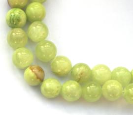 Jadeiet rond groen 8 mm