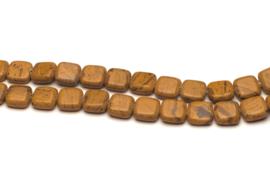 Jasper platte vierkante kralen 12 x 12 x 5,5 mm