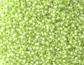 Tsjechische PRECIOSA rocailles  10/0 02089 doorzichtig groen ca. 50 g.